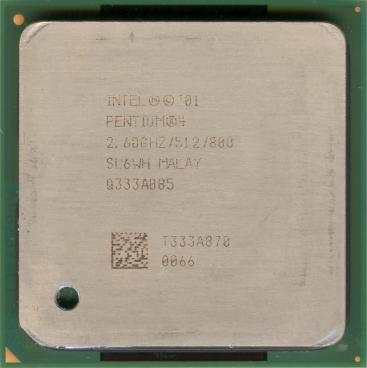 Intel Pentium 4 2.6 GHz Northwood (HT) (front side)