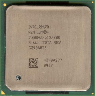Intel Pentium 4 2.8 GHz Northwood (HT) (front side)