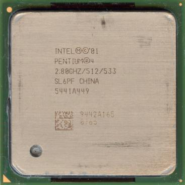 Intel Pentium 4 2.8 GHz Northwood (front side)