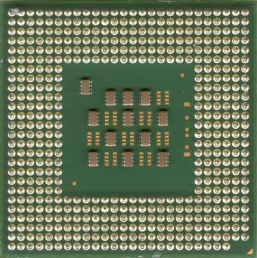 Intel Pentium 4 3.06 GHz Northwood (HT) (back side)