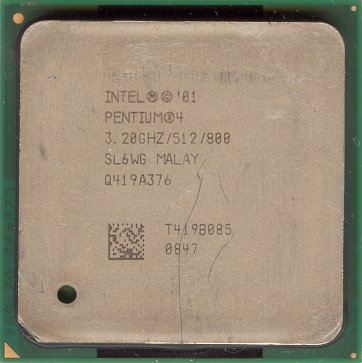 Intel Pentium 4 3.2 GHz Northwood (HT) (front side)
