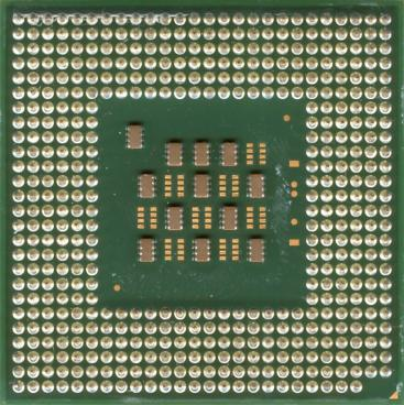 Intel Pentium 4 3 GHz Northwood (HT) (back side)