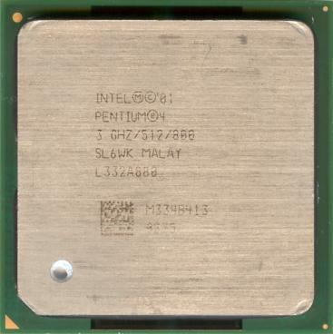 Intel Pentium 4 3 GHz Northwood (HT) (front side)