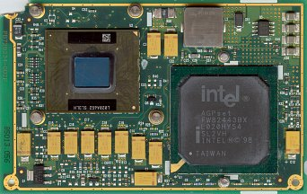 Intel Pentium III Mobile module 500 MHz (front side)