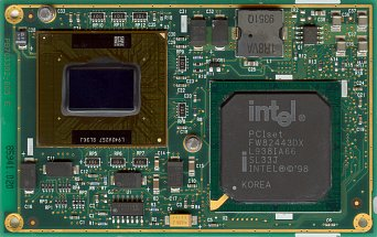 Intel Pentium II Mobile module 400 MHz (front side)