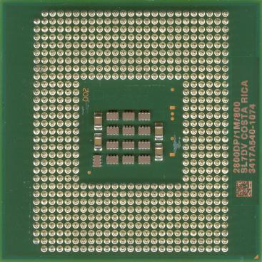 Intel Xeon 2.8 (1M L2) (back side)