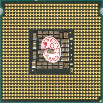 Intel Xeon 5060 (back side)