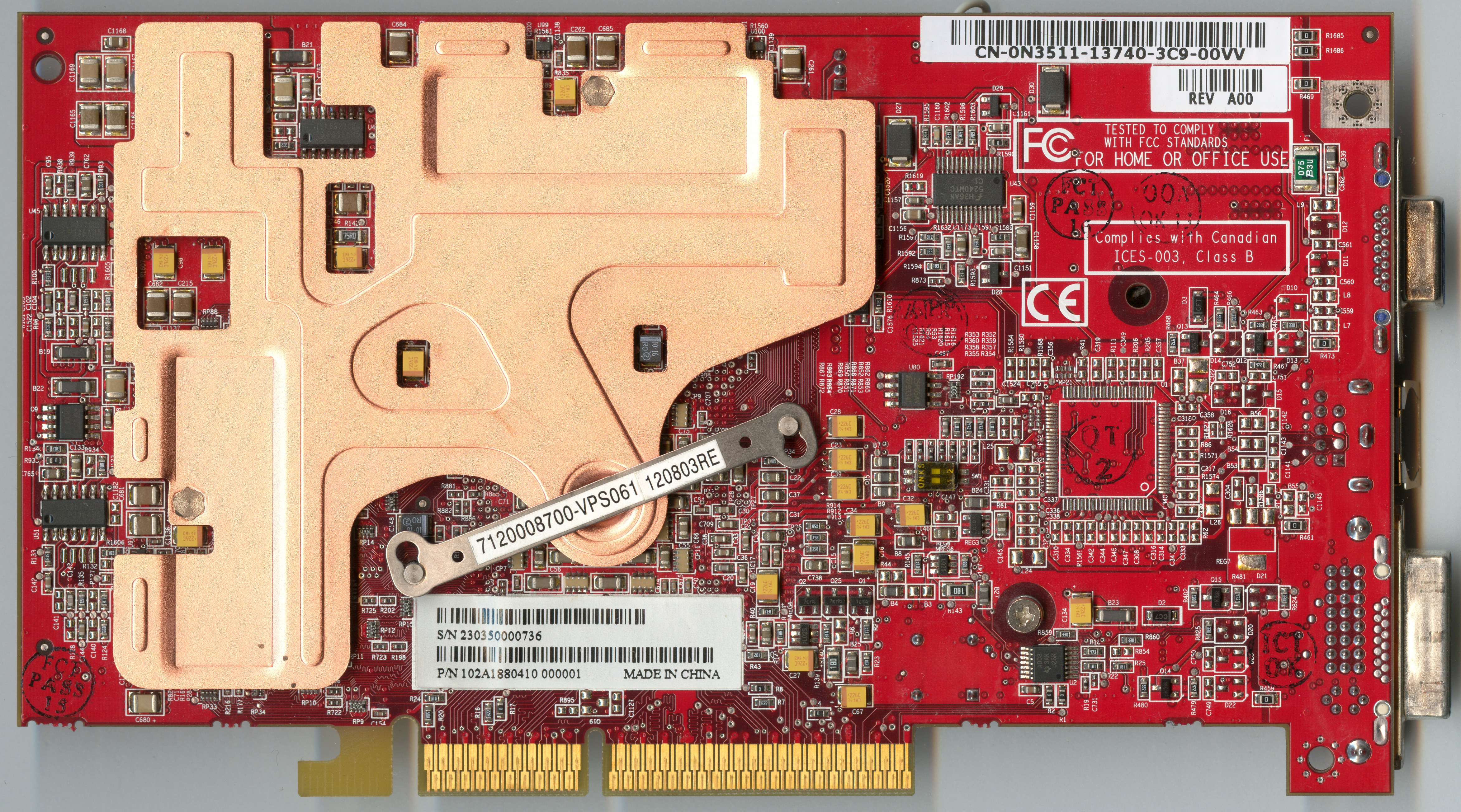 ATi Radeon 9800 XT Back Side
