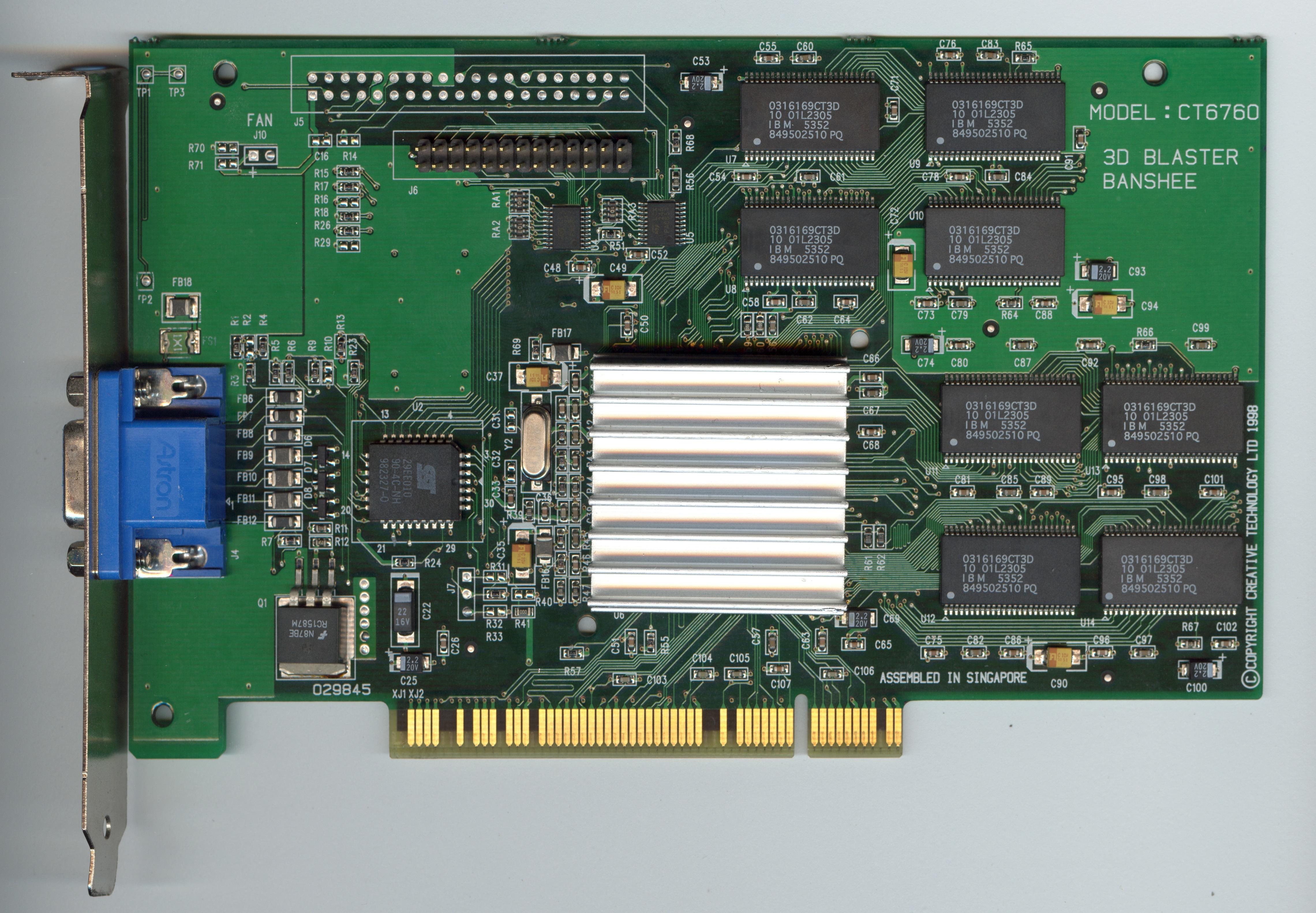 Creative 3D Blaster Banshee PCI