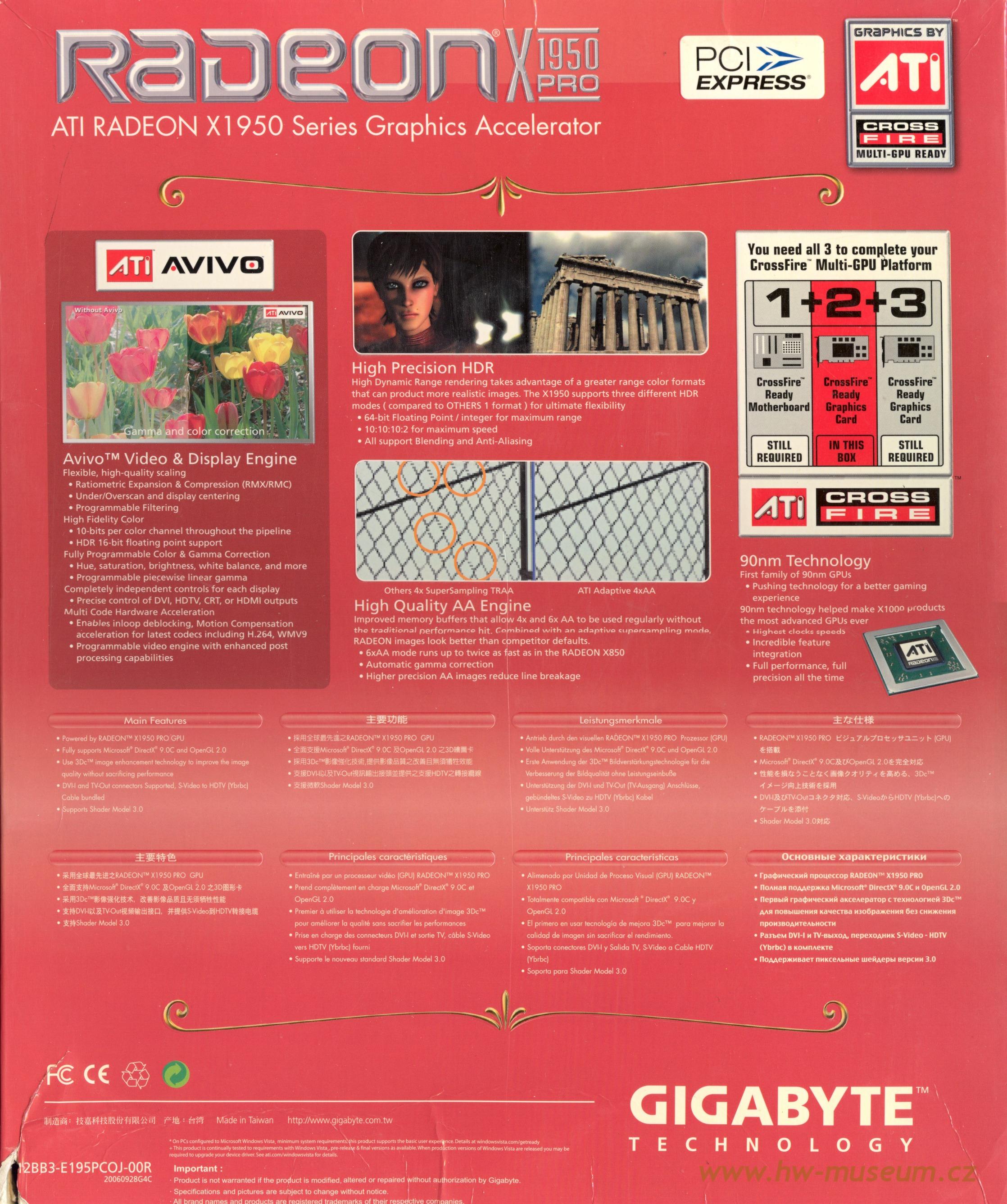 Gigabyte Radeon X1950 Pro - Hardware museum