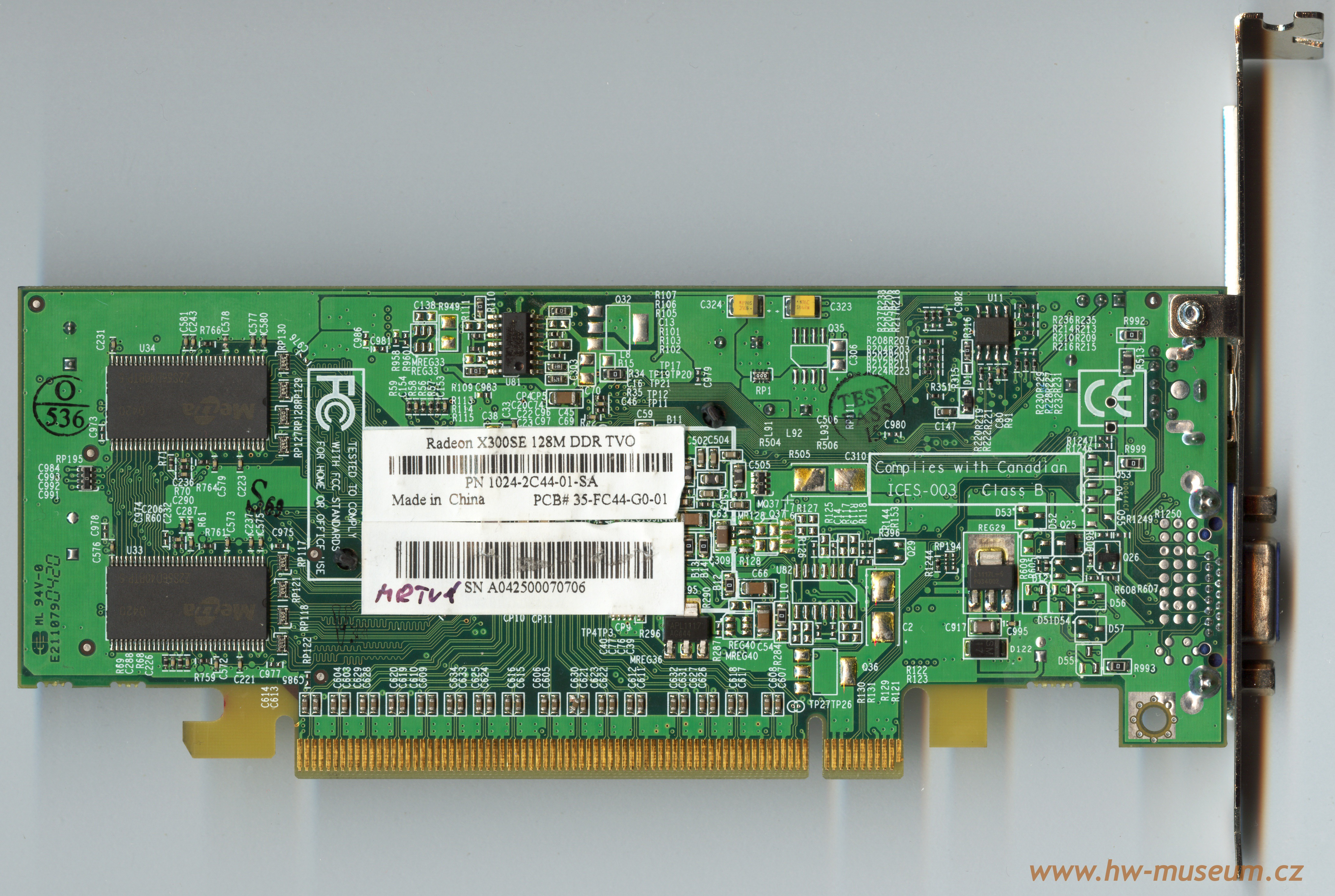 Sapphire RADEON X300 - graphics card - Radeon X300 - 128 MB Specs