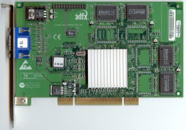 3dfx Voodoo3 2000 PCI SGR rev. D1 (front side)