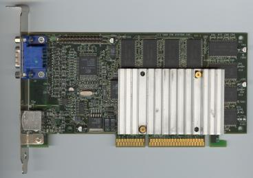 3dfx Voodoo3 3000 AGP rev. C1 (old PCB) (front side)