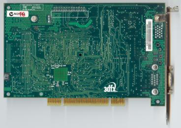 3dfx Voodoo3 3000 PCI SDR (back side)
