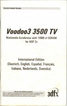 3dfx Voodoo3 3500 TV gallery