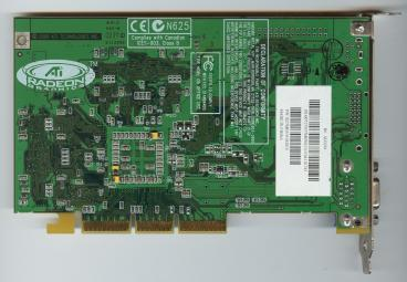 ATi Radeon 256 SDR (back side)