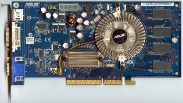 Asus GeForce 6600 LE AGP (front side)