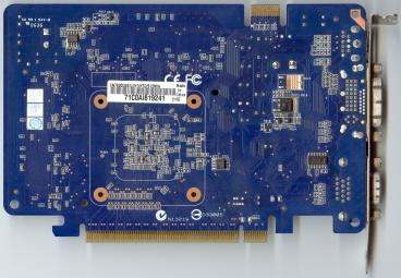 Asus GeForce 7600 GS (80nm) (back side)