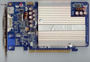 Asus GeForce 7600 GS (80nm) (front side)