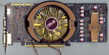 Asus GeForce GTS 250 (front side)