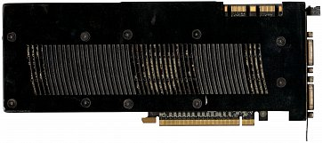 Asus GeForce GTX 260 (back side)