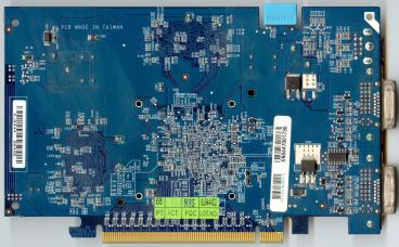 Gigabyte GeForce 7600 GT (80nm) (back side)