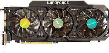 Gigabyte GeForce GTX 780 Ti (front side)