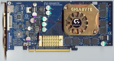 Gigabyte GeForce PCX 5900 (front side)