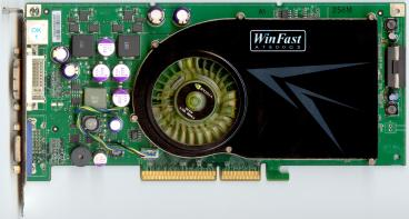 Leadtek GeForce 7800 GS AGP (front side)