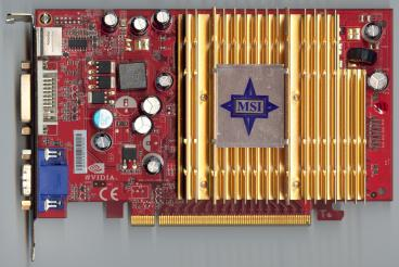 MSI GeForce 6600 DDR2 (front side)