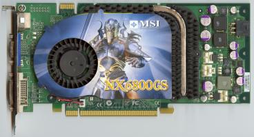MSI GeForce 6800 GS (front side)