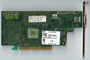 Matrox Millennium G400 16 MB (back side)
