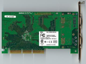 Matrox Millennium G450 DH 16 MB (back side)